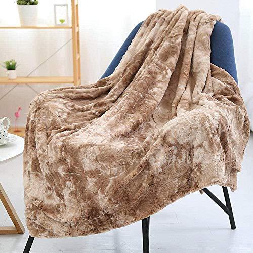 XZHYMJ PV Micro Manta de Felpa Manta de sofá Manta de Cama de Microfibra Manta de sofá Manta de Viaje para el hogar Manta de Camping 7 Colores Opcional-Caqui_Los 80X120cm