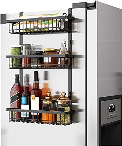 JIANGCJ Durable Organizador de Nevera magnética Free Modern Kitchen Gabinete Organizador Rack para Especias Condimentos Alimentos enlatados Fácil instalación