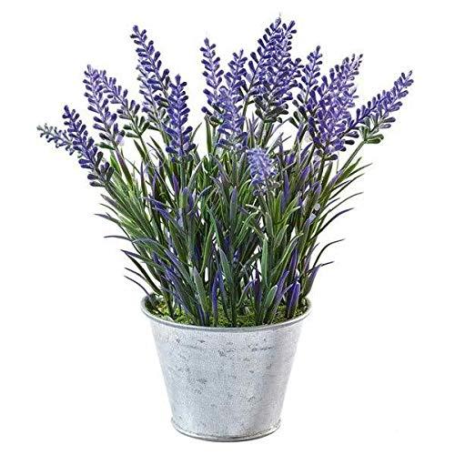 Kleine Kunstpflanze/Dekopflanze im Zink...