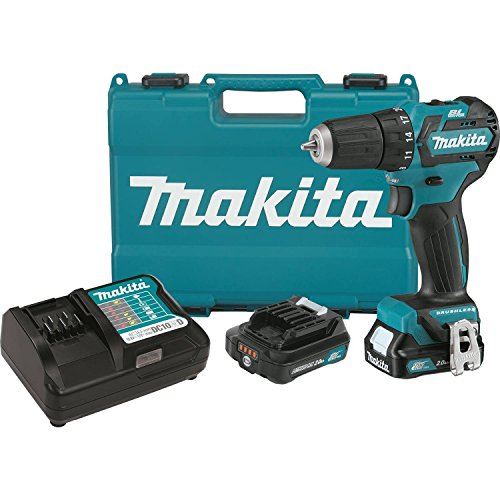 Makita FD07R1 12V MAX CXT Lithium-Ion Brushless Cordless Driver-Drill Kit, 3/8'