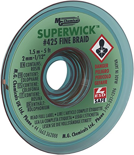 MG Chemicals 400 Series #3 Fine Braid Super Wick with RMA Flux