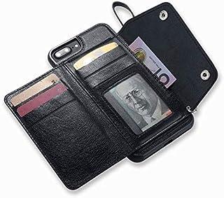 iPhone 7 Plus Case,iPhone 8 Plus Case, Wallet Case with Card Slot Holder Handbag Purse Wrist Strap Premium Leather Kickstand Shockproof Protective Cover for iPhone 7 Plus/8 Plus,Black
