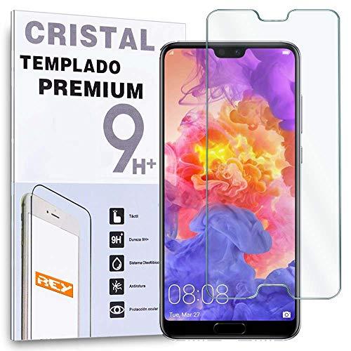 REY Protector de Pantalla para Huawei P20 Pro, Cristal Vidrio Templado Premium