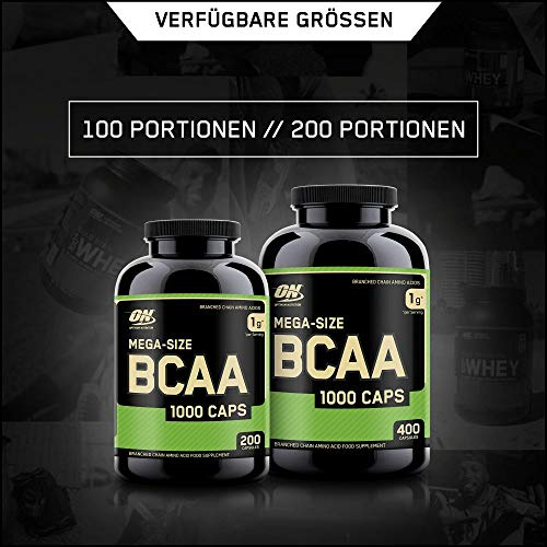 Optimum Nutrition BCAA 1000- 400 Kapseln , 1er Pack (1 x 400 g) - 4