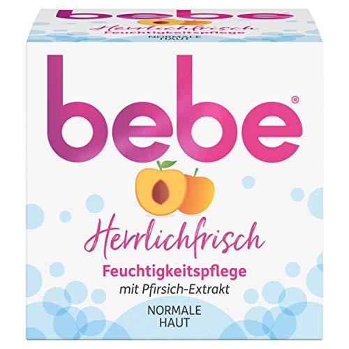 bebe Herrlichfrisch Feuchtigkeitspflege, Gesichtscreme mit Pfirsich-Extrakt, Normal Haut, 50 ml