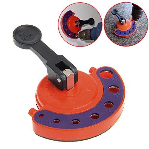 Bohrhilfe / Positionierwerkzeug für Mamor, Keramik, Boden, für Bohraufsätze mit 4-12 mm, verstellbar, Bohrer, Fliesen, Glas, mit Saugnapf, aus Legierung und Kunststoff, Werkzeuge