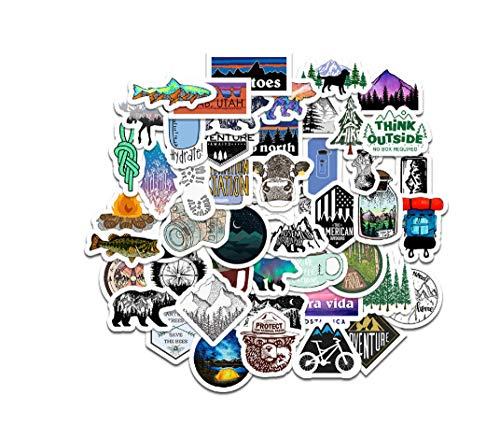 Votgl 50st Outdoor Nature Camping Stickers waterdichte waterfles Mountain Decal Bumper Skateboard auto sticker LD