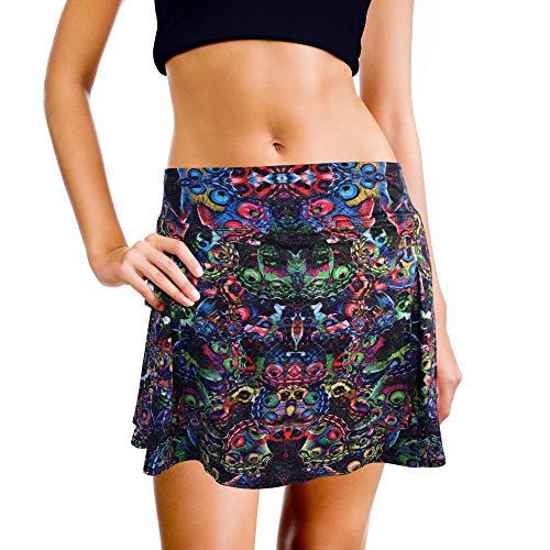 XrSzChic Womens Tennis Golf Skirt Athletic Exercise Printed Skorts Short Pocket