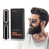VLOXO - Cepillo alisador de barba, inalámbrico, con pantalla LCD, portátil, USB