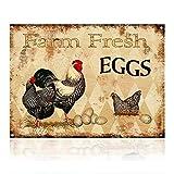 M-Mount Plaque en métal Motif œufs frais de...