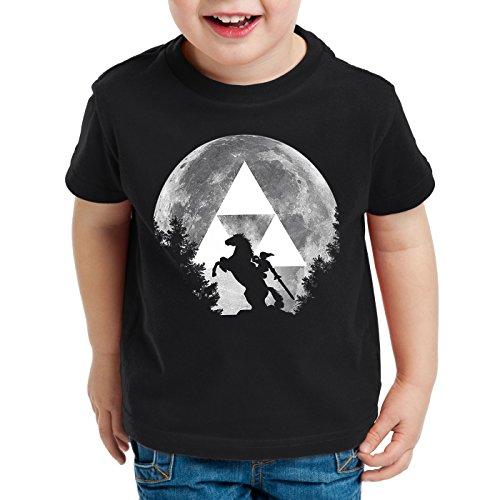 A.N.T. Link Epona Mond T-Shirt für Kinder SNES Zelda Ocarina, Größe:152