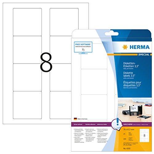 HERMA 4355 Disketten Etiketten 3,5