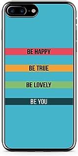 iPhone 7 Plus Transparent Edge Phone Case Happy Phone Case Motivation Phone Case True iPhone 7 Plus Cover with Transparent...