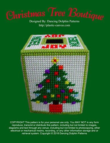 Christmas Tree Boutique Tissue Box Cover: Plastic Canvas Pattern (English Edition)
