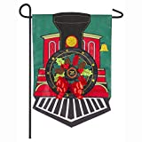 Evergreen Flag Embroidered Christmas Train Applique Garden Flag - 12.5 x 18 Inches Outdoor Decor for Homes and Gardens