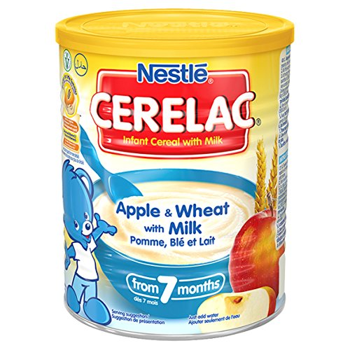 Nestle Cerelac, Apple & wheat With Milk, 400 Gram Can (Pack of 4)