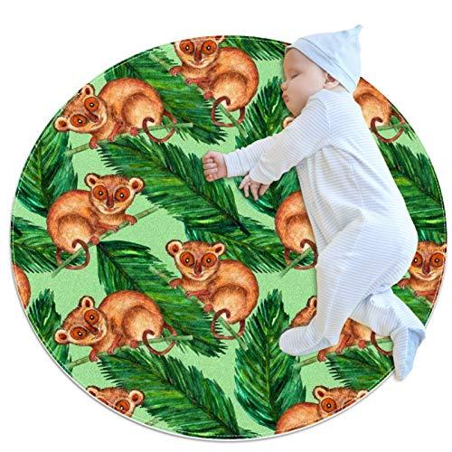 LKJDF Alfombras de gateo para niños y niñas, alfombra de juego, decoración de habitación de niños, naturaleza hiperrealista