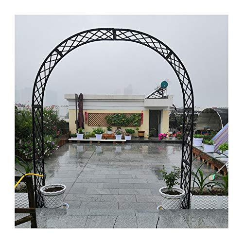 HLMBQ Arco de jardín enrejado de rosa negra, cenador de boda, varias plantas de escalada, jardín al aire libre, jardín trasero, 120 x 220 cm/180 x 250 cm/240 x 250 cm pérgola cenadores