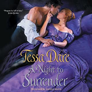 A Night to Surrender     Spindle Cove, Book 1              By:                                                                                                                                 Tessa Dare                               Narrated by:                                                                                                                                 Carolyn Morris                      Length: 11 hrs and 25 mins     320 ratings     Overall 4.2