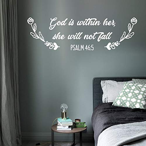 fdgdfgd Christian Bibel Wandtattoo Zitat Lied von Salomon Vinyl Wandtattoo für Zuhause Wanddekoration Schlafzimmer Dekoration Wandbild