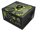 Keep Out Gaming FX700V2 - Fuente de alimentación de 700 W, Color Negro y Verde