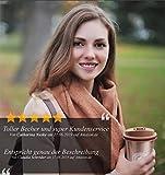 Coffee Cloud Edelstahl Kaffeebecher 500ml | Doppelwandig vakuumisolierter Travel Mug | Thermobecher aus Edelstahl | Isolierbecher BPA Frei, Leicht & Auslaufsicher (Bronze) - 6