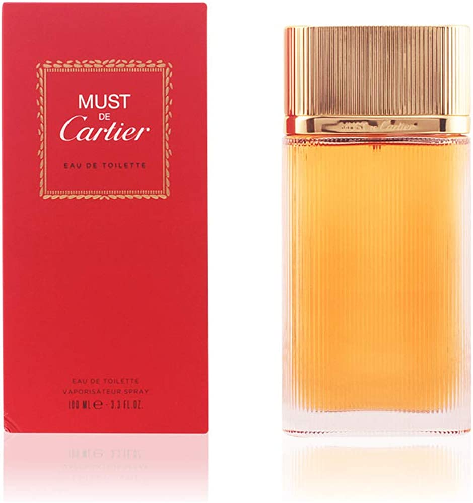 Cartier must, eau de toilette per donna, 100 ml spray 10000536