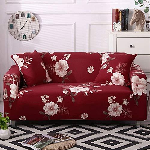 Fourreaux Canapé-1pc Feuille/Fleur de coton élastique Canapé Slipcovers Canapé d'angle Canapé-serviettes Couverture Sofa for Fauteuil/causeuse/canapé/Big Sofa Living Room
