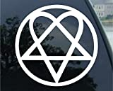 SoCoolDesign Heartagram Car Window Vinyl Decal Sticker 7' Wide