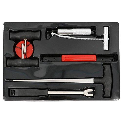 VINGO®Scheiben Ausbauset Werkzeug Autoglas Ausbau Set Windschutzscheiben Auto Ausglaswerkzeug Ausbau KFZ