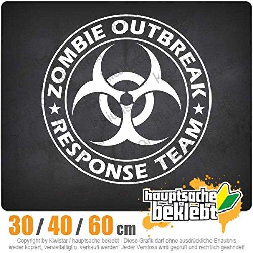Kiwistar Zombie Outbreak Biohazzard - in 3 Größen erhältlich Heckscheibenaufkleber Carsticker Decal