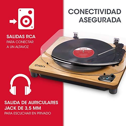 ION Audio Air LP Wood - Tocadiscos de vinilo Bluetooth - reproducción...