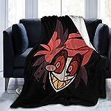Riiat Alastor Hazbin Hotel Fleece Blanket Throw Microfiber Plush Bedding Soft Knitted Cosy Warm Luxurious Blanket 60'x50'