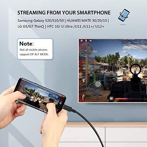 bauihr USB C auf HDMI Kabel [4K@60Hz], USB C to HDMI Kabel [Thunderbolt 3 Kabel] Kompatibel mit iPad Pro 2018, MacBook Pro/Air, Galaxy S10/Note 8/S9/S8, Huawei P20/Pro/P30/Pro, Mate20/30/30 pro (1.8M)