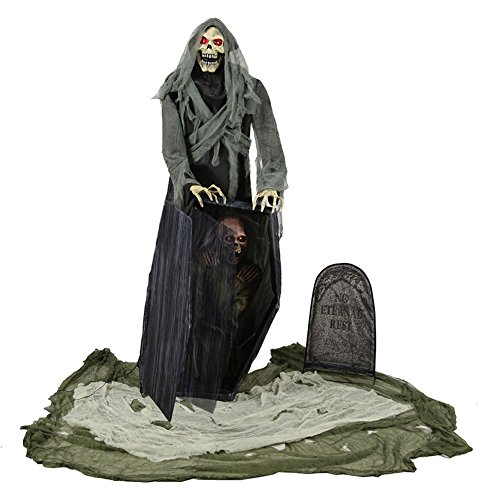 Lord of Death and Graveyard Animated Halloween Prop