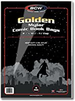 (100) Golden Age Mylar Comic Sleeves - 4 Mil Thick - BCW