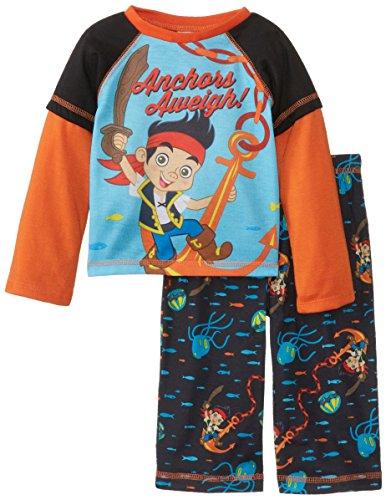 Komar Kids Baby Jungen Jake und die Piraten Poly 2 St¨¹ck Pyjama Set, schwarz, 24 Monate