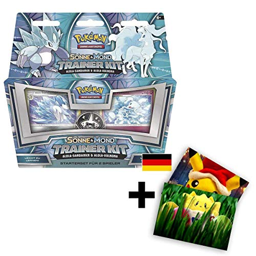 Lively Moments Pokemon Karten Trainer Kit Sonne & Mond Alola-Sandamer und Alola-Vulnona DE Deutsch Spielkarten