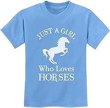 Tstars - A Girl Who Loves Horses Horse Lover Gift Youth Kids T-Shirt