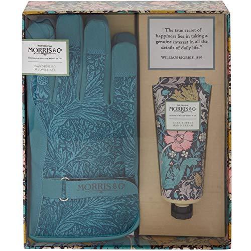 Morris Geißblatt und rosa Tonerde Gartenhandschuhe-Set mit 2 Gartenhandschuhen und Handcreme in Geschenkbox, 455 g