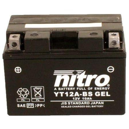 Batterie 12v 10ah Yt12a Bs Gel Nitro 51013 Sfv 650 Gladius Abs Wvcx 09 16 Auto