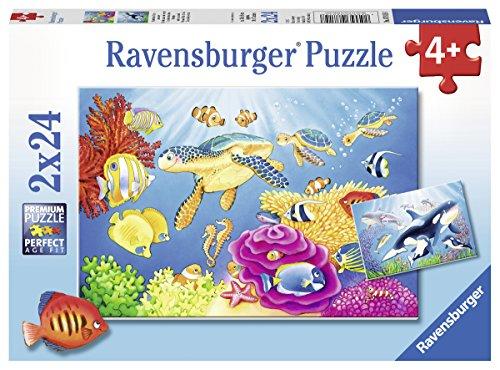 Ravensburger Kinderpuzzle 07815 - Kunterbunte Unterwasserwelt - 2 x 24 Teile