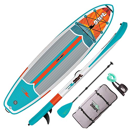 Drift 11'6' Inflatable Stand Up Paddle Board, SUP with Accessories | Pump, Lightweight Paddle, Fin, Leash & Backpack Travel Bag, Native