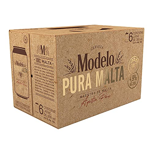 Cerveza Modelo Pura Malta Bote, 24 latas de 355ml (4 six pack)