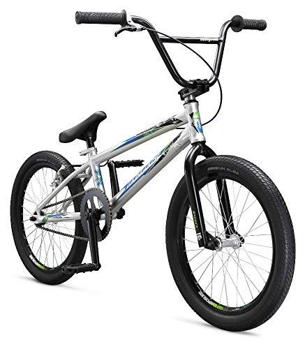 Mongoose Titel Pro 50,8cm Jungen Fahrrad BMX Race, Herren, M42608M60OS, Silber