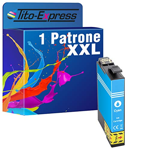 Tito-Express PlatinumSerie 1 - Cartuccia di ricambio XXL per Epson T2992 29 XL ciano, per Expression Home XP 235 245 247 255 257 335 345 355 435 445 45 455