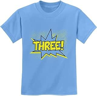 TeeStars - Three! Superhero Third Birthday - 3 Years Old Gift Idea Kids T-Shirt