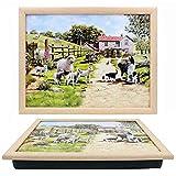 The Leonardo Collection Collie and Sheep Lap Tray, 44x33x6cm, Multicolour, LP94194