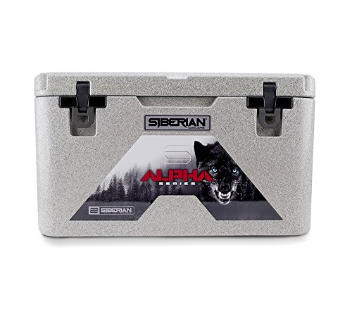 Siberian Coolers Alpha Pro Series 65 Quart in Granite Roto Molded Includes Accessories