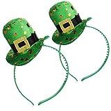 com-four® 2X Diademas, Disfraces para día de San Patricio, para Festival irlandés, Mardi Gras, Carnaval, Fiesta temática (02 Piezas - Set13)